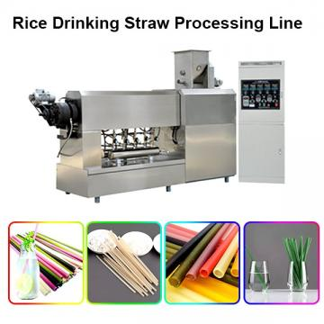 Chinese Manufacturer Industrial Biodegradable Edible Ecoware Rice Tapioca Drinking Straw Maker Making Machine